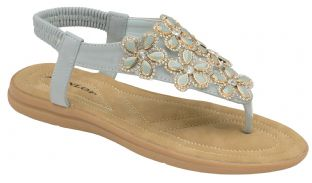 Dunlop DLP012 Womens Jaden Powder Blue Sandals